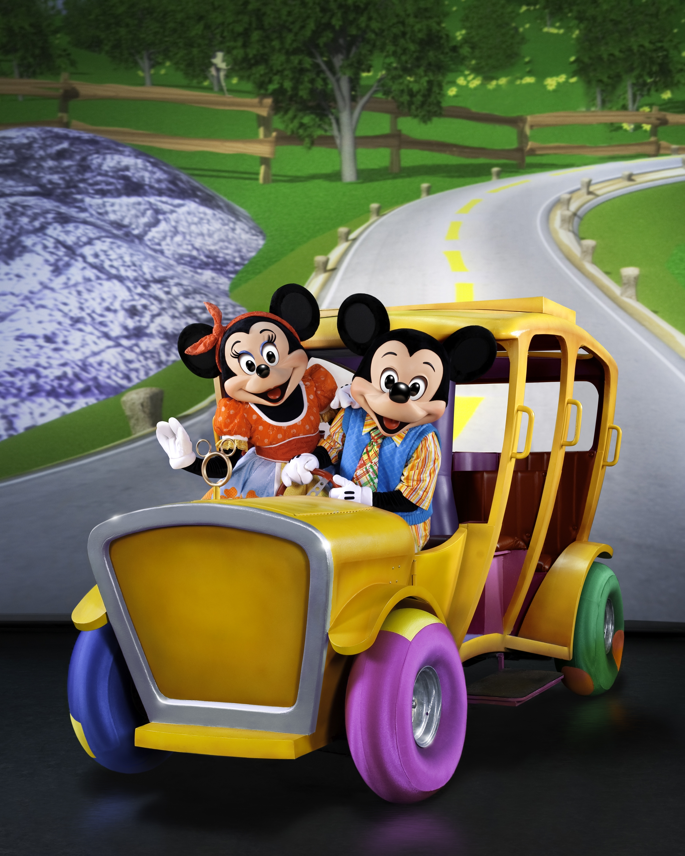 Mickey and Minnie set of on a hilarious adventure!