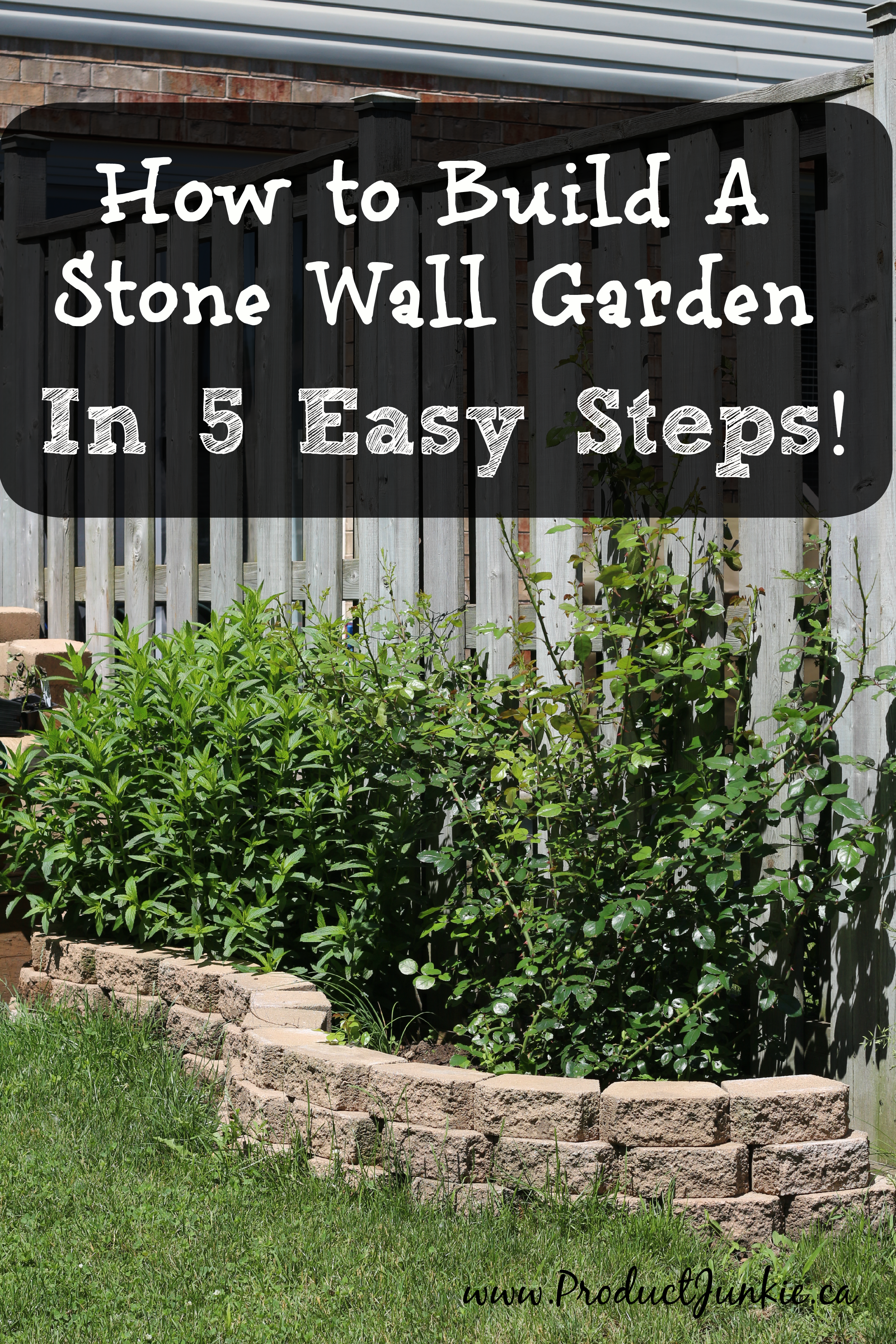 How to Build a Stone Wall Garden in 5 Easy Steps