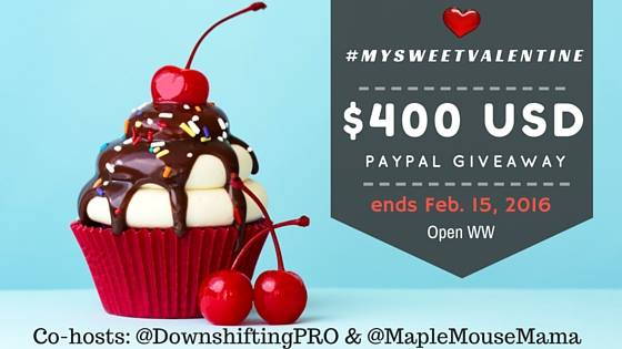 Win $400 USD with the #MySweeetValentine Paypal Giveaway!