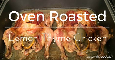 Oven Roasted Lemon Thyme Chicken: Roasting Like a Boss with Circulon {Giveaway}