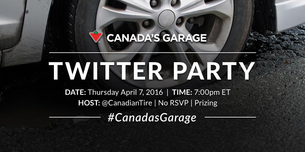 Spring Car Care #CanadasGarage Twitter Party