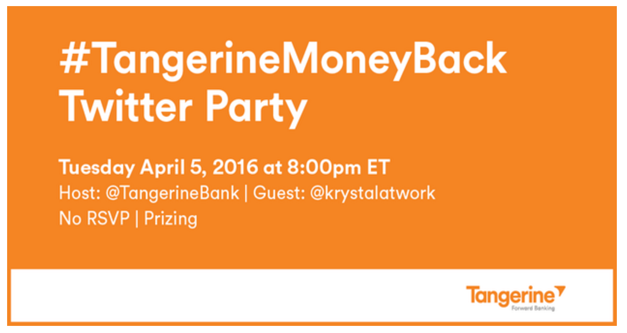 A Credit Card that earns it's keep!? #TangerineMoneyBack & Twitter Party!